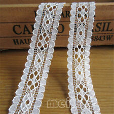 10 yard Vintage Embroidered Lace Edge Trim Ribbon Crochet Applique Sewing Crafts