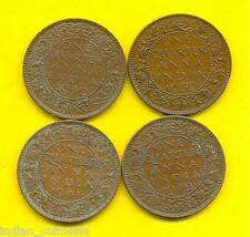 KING GEORGE  VI  1/4 ANNA 4 COINS SET, 1939, 1940, 1941, 1942
