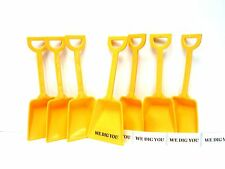 """12 """"We Dig You"""" Stickers 12 Yellow Toy Shovels Mfg Usa Party Favors"""