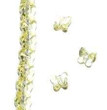 SCU139sp JONQUIL Yellow Faceted Butterfly 6mm Swarovski Crystal Beads 12/pkg