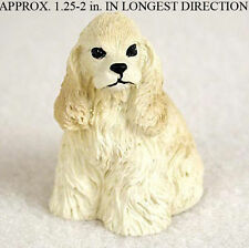 Cocker Spaniel Collectible Mini Resin Hand Painted Dog Figurine Blonde