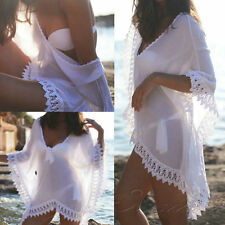 Summer Women Bathing Suit Sexy Lace Crochet Bikini Swimwear Cover Up Beach Dress