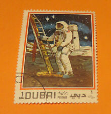 1960s DUBAI SPACE STAMP SERIES FIRST MAN OF THE MOON WALK DOWN LADDER U.S.A