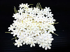 100 White Flowers mulberry paper (Size 12 mm)