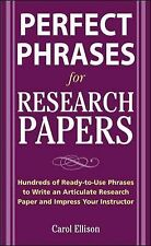 McGraw-Hill's Concise Guide to Writing Research Papers (Perfect Phrases Series),