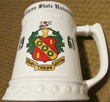 Michigan State University 1968 Alpha Gamma Delta Stein Mug Made in USA by FSSC