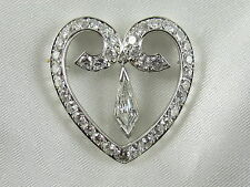 2.00ctw Heart Shape Diamond Pendant F/VS1 Kite 14K White Gold $5500
