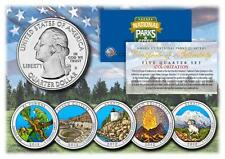 2012 Colorized National Parks America the Beautiful Coins *Set of all 5 Quarters