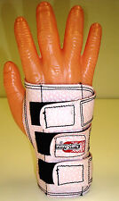 Lite Pink Small Medium Large Bowlers Bowling  Wrist Support RIGHT Hand Glove