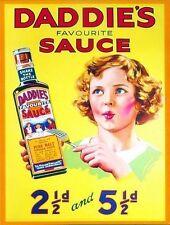 Daddie's Brown Sauce Old Vintage Advertising Kitchen Food Large Metal/Tin Sign
