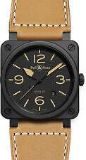 BR-03-92-HERITAGE-CERAMIC | BELL & ROSS CARBON | BRAND NEW MENS AUTOMATIC WATCH
