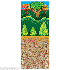 Video Game PIXEL FOREST BACKDROP Party Decoration Photo Prop MINECRAFT Nintendo