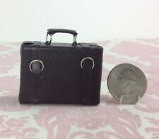 Dollhouse Miniature Travel/Trip/Work/Office Brown Suitcase Luggage w/ Handle 1