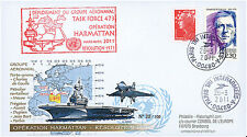 "LIBYE11-1 FDC ""Operation HARMATTAN in Libya - Aircraft Carrier DE GAULLE"" 2011"
