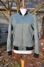 NWT RAG AND BONE CASHMERE AND WOOL BASTION JACKET BOMBER MOTO VARSITY BLUE 4