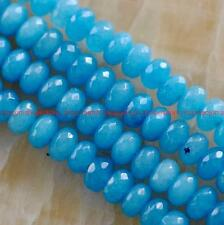 5x8mm Facted Blue Topaz Gemstone Abacus Loose Beads 15''