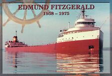 Edmund Fitzgerald 1958-1975, Great Lakes Freighter, Shipwreck --- Ship Postcard