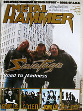 METAL HAMMER 1 2001 Savatage Lacuna Coil Amen Black Widow Geddy Lee Primal Fear