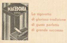 Z1132 Sigarette MACEDONIA EXTRA - Pubblicità d'epoca - 1933 Old advertising