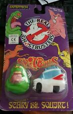 1986 The Real Ghostbusters Water Squirting Spitballs - Slimer and Ecto-1