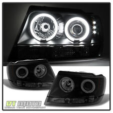 Black Smoked 99-04 Jeep Grand Cherokee CCFL Halo Projector Headlights 1999-2004