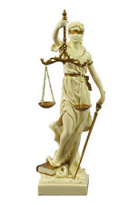 Goddess of Justice Themis or Lady Justica Statue in Cream and Gold #WU71832AH