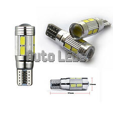 WHITE 10 x 5630 LED t10 Wedge 12v LAMPADINA LED Interni