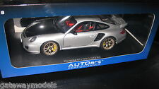 AUTOART 1.18 PORSCHE 911 997 GT2 RS SILVER  AWESOME LOOKING MODEL CAR