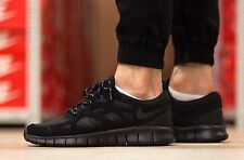NIKE FREE RUN 2 Running Trainers Shoes Gym Casual Suede - UK 7 (EUR 41) Black