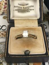 Magnificent Emerald Cut Diamond Solitaire Engagement Ring .56ct
