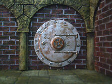 Large Round Steel Door Thomarillion Unpainted Pewter Terrain D&D Dwarven Forge