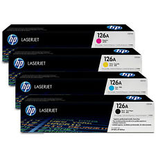 Set of 4 New Genuine HP CE310A CE311A CE312A CE313A Laser Cartridges No Box 126A