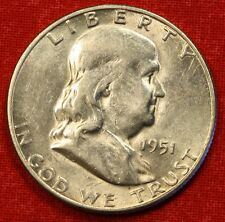 1951-S FRANKLIN  HALF DOLLAR AU BEAUTIFUL COIN CHECK OUT STORE L@@K * $ FH126