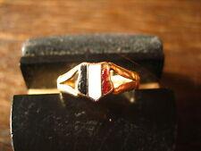 Patriotischer 750er Rotgold Ring Schwarz Weiß Rot emaillier Kaiserreich Emaille