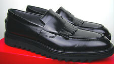 HUGO BOSS FASHION LOAFER 44 NEU 10 11 LEDER ITALIAN CALFSKIN BLACK