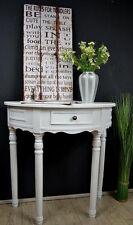 Konsolentisch Wandtisch runde Konsole Anrichte halbrund antik Weiß Landhaus Sp25