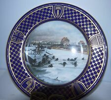 """Spode Operation Overload Series """"Juno Beach"""" D-Day Anniver. Collectible Plate"""