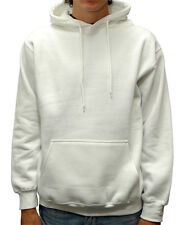 Men's Plain Blank Pullover Hoodie Hooded Sweatshirt Solid Heavy Cotton S-2XL