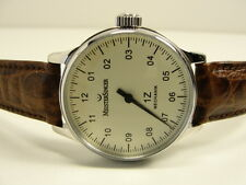 MEISTERSINGER 1Z MECHANIK SCRYTPO BM3.03 GLASBODEN EINZEIGER MENS WATCH RARE