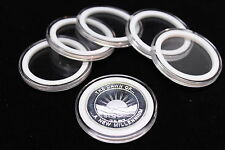 25 Airtite Coin Capsule Holders with White Rings for 1oz Silver Rounds, 39mm