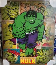 Hulk Marvel Comic Book Superhero Picture Retro Wall Art Ready To Hang Brand New
