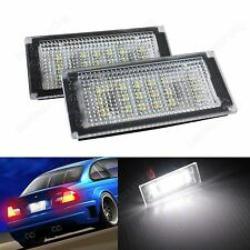 BMW E46 2D Coupe Convertible M3 LED License Number Plate Light 2004-06 No Error