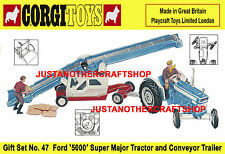 Corgi Toys GS 47 Gift Set Ford Farm Tractor A3 Size Poster Leaflet Shop Sign 67