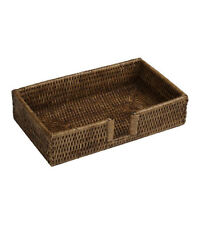 Guest Towel Holder Tray for Paper Guest Towels Rattan Brand New