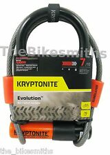 "Kryptonite Evolution Mini-7 with 4 Foot Flex Cable Bike U lock  3.25"" x 7"""