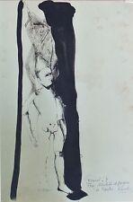 """""""LE PANTIN"""" Dessin sur papier à l'encre de Chine par Paule FOURNEL 1968"""