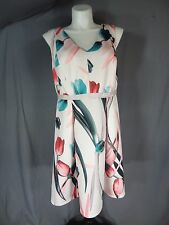 Adrianna Papell Sleeveless Multi Floral Fit & Flare Dress Plus Size 22W