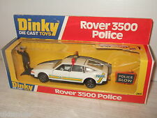Rare Vintage Dinky Toys 264 Rover 3500 Police Car & Police Figure & Road Signs