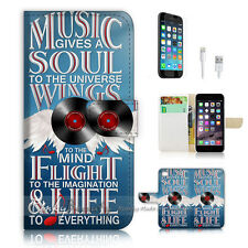 iPhone 6 (4.7') Flip Wallet Case Cover! P1301 Music Wing