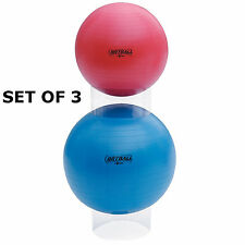 SET OF 3 GYM BALL STACKERS STORAGE EXERCISE RUBBER YOGA SWISS PHYSIO STABILITY
